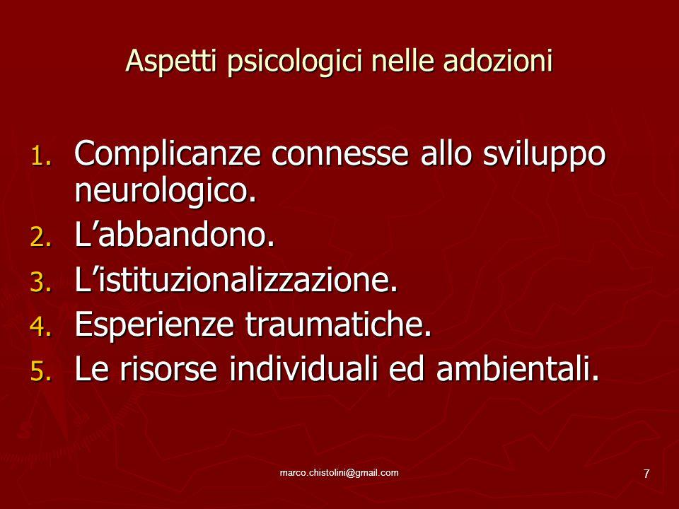 Aspetti psicologici nelle adozioni