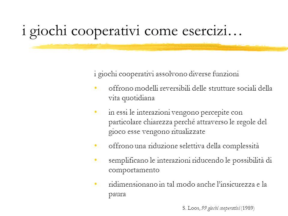 i giochi cooperativi come esercizi…