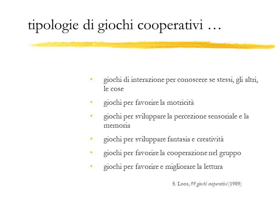 tipologie di giochi cooperativi …