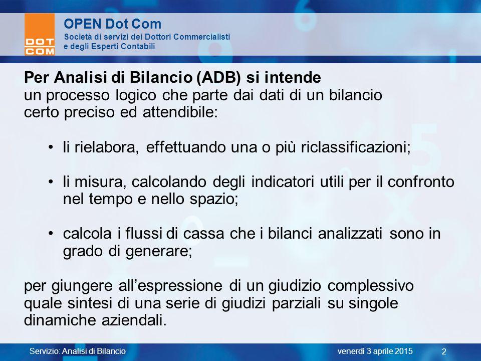 Per Analisi di Bilancio (ADB) si intende