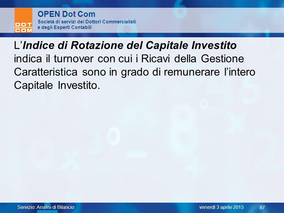L'Indice di Rotazione del Capitale Investito