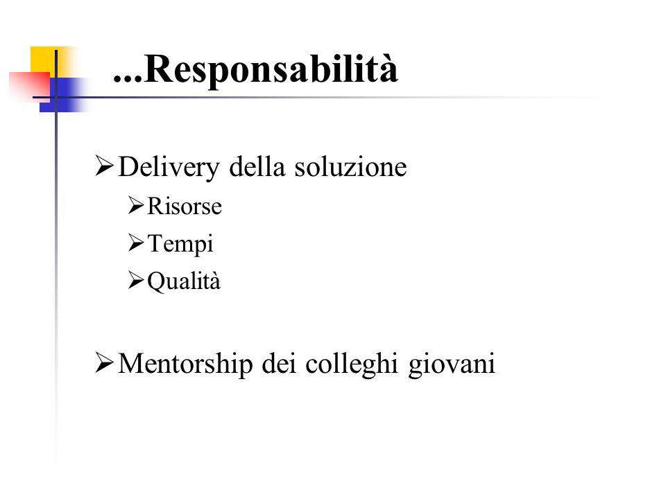 ...Responsabilità Delivery della soluzione