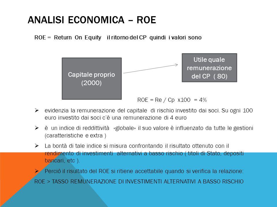 Analisi economica – roe