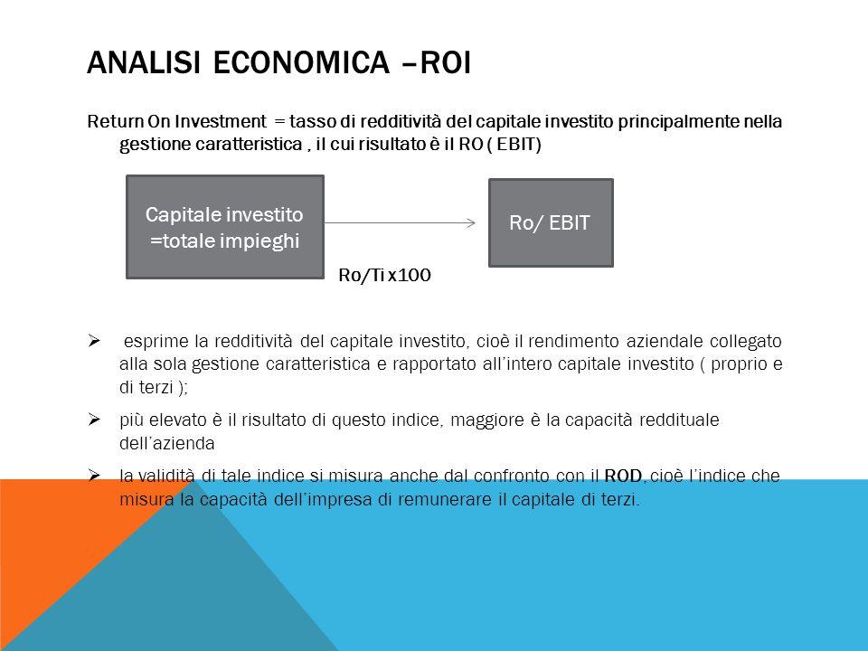 Analisi economica –roi