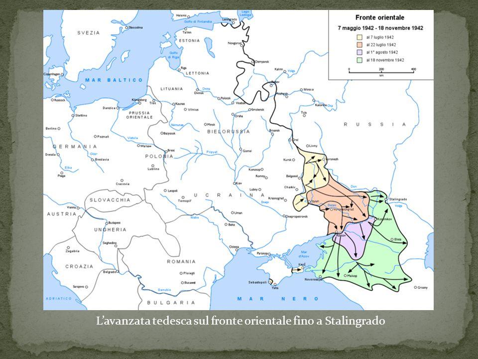 L'avanzata tedesca sul fronte orientale fino a Stalingrado