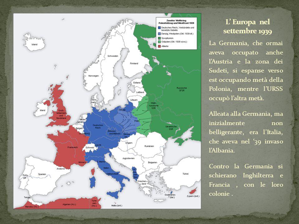 L' Europa nel settembre 1939