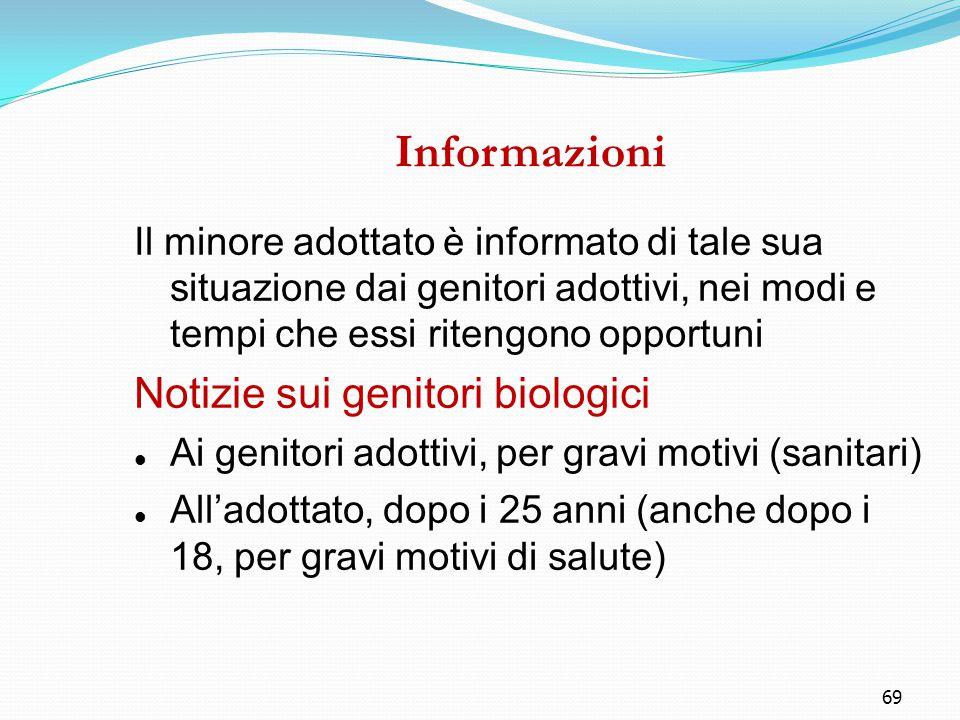 Informazioni Notizie sui genitori biologici