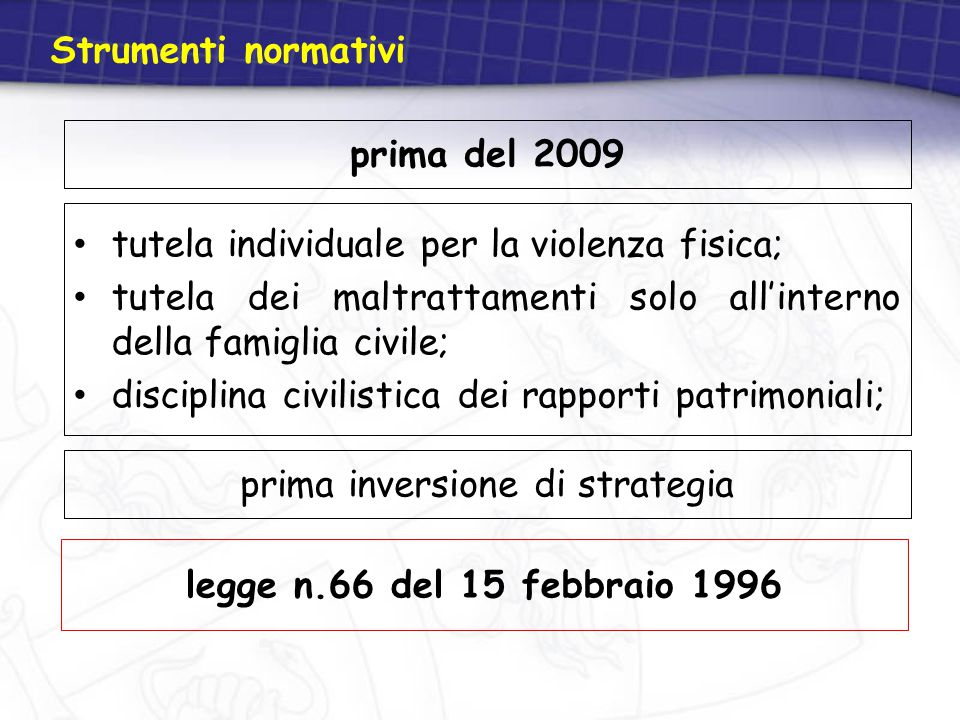 prima inversione di strategia