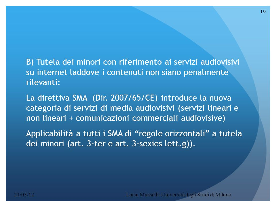 Lucia Musselli- Università degli Studi di Milano