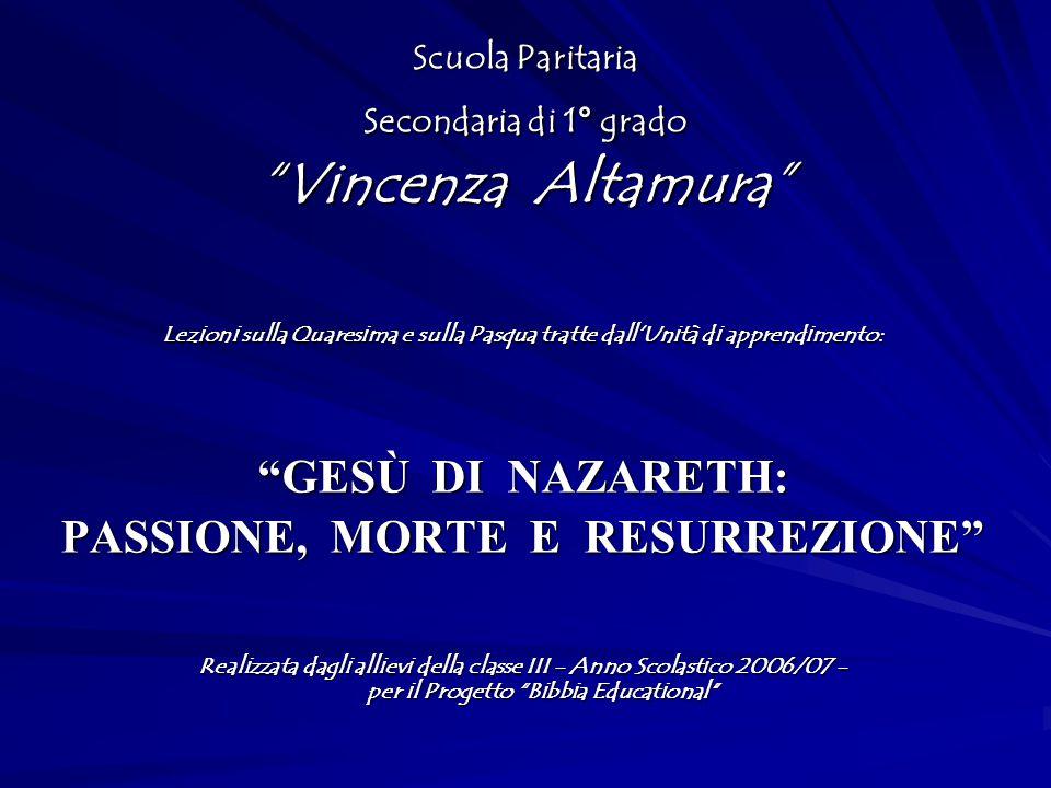 Scuola Paritaria Secondaria di 1° grado Vincenza Altamura