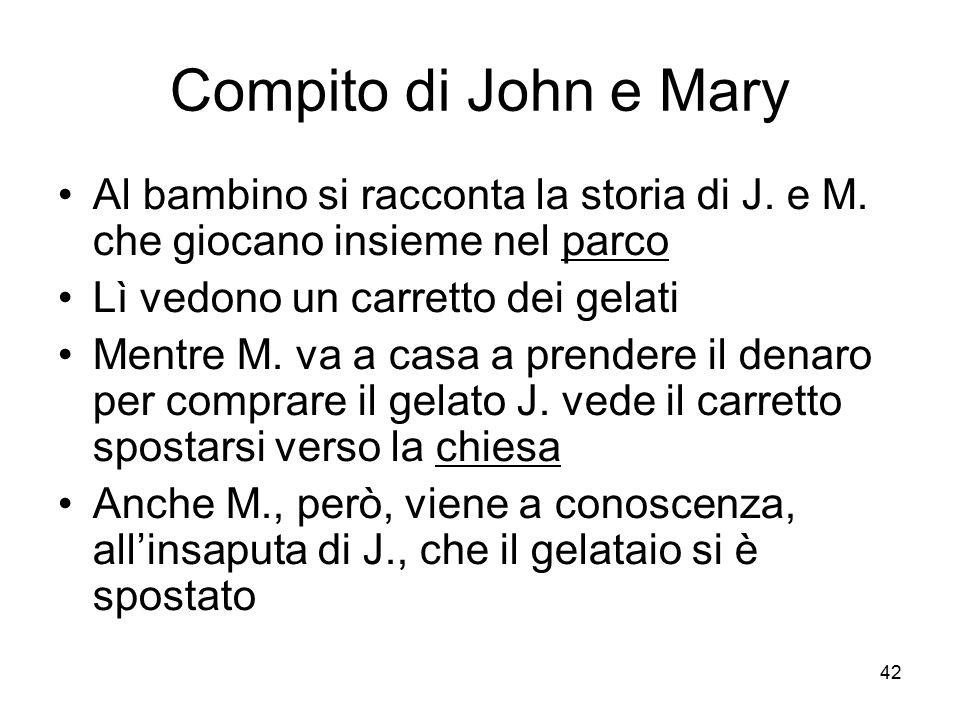 Compito di John e Mary Al bambino si racconta la storia di J. e M. che giocano insieme nel parco. Lì vedono un carretto dei gelati.