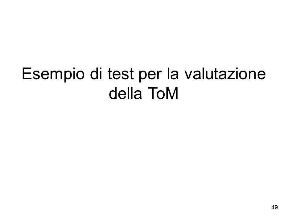 Esempio di test per la valutazione della ToM