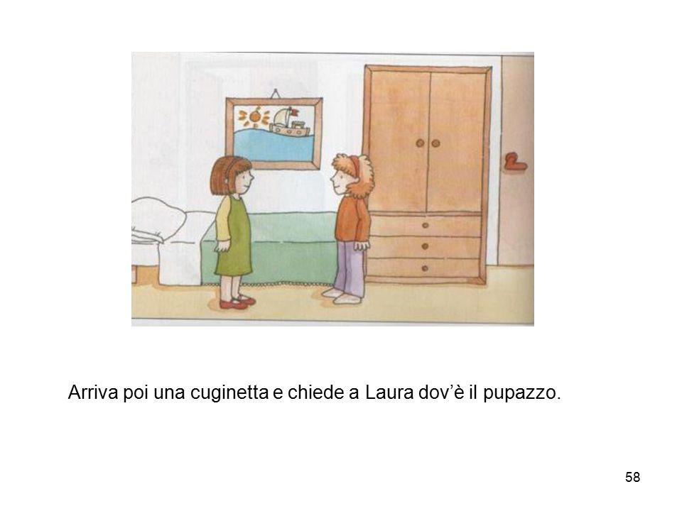 Arriva poi una cuginetta e chiede a Laura dov'è il pupazzo.
