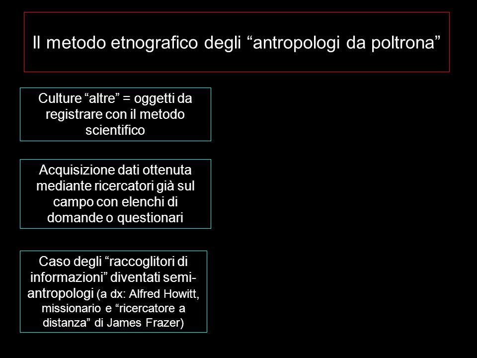 Il metodo etnografico degli antropologi da poltrona