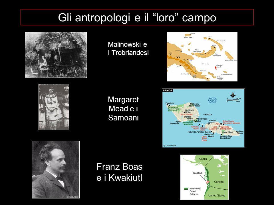 Gli antropologi e il loro campo