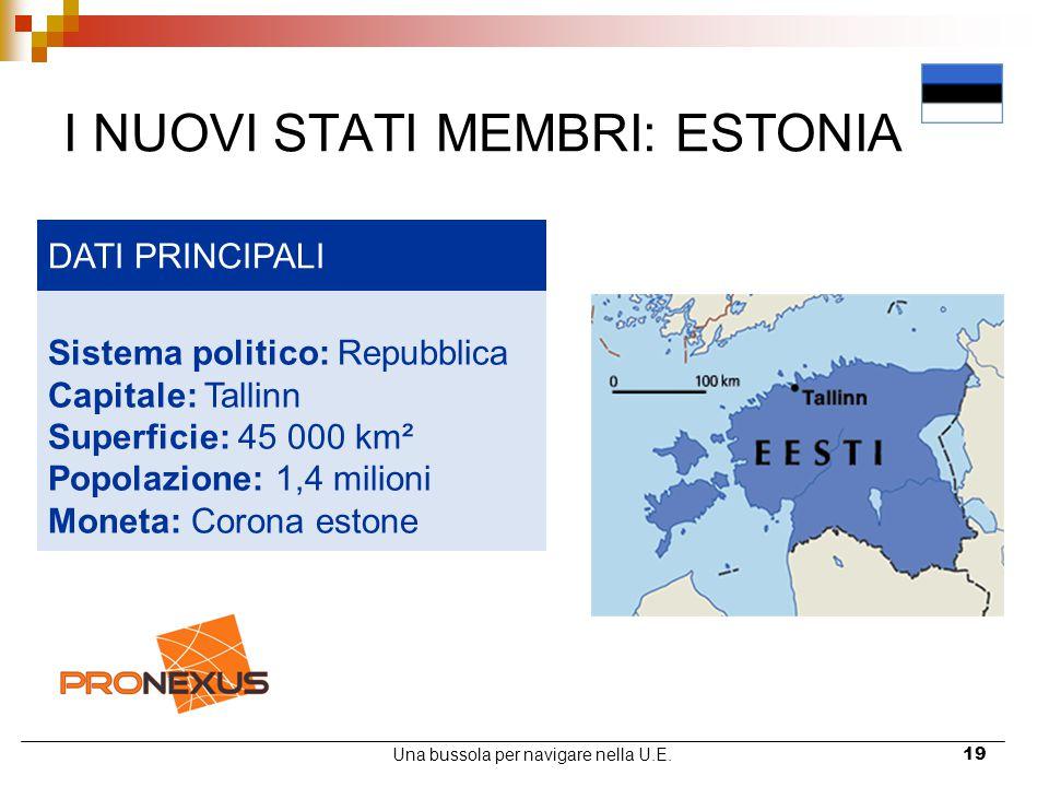 I NUOVI STATI MEMBRI: ESTONIA