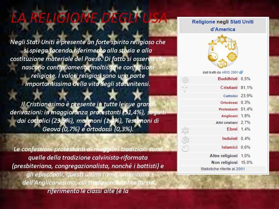 LA RELIGIONE DEGLI USA