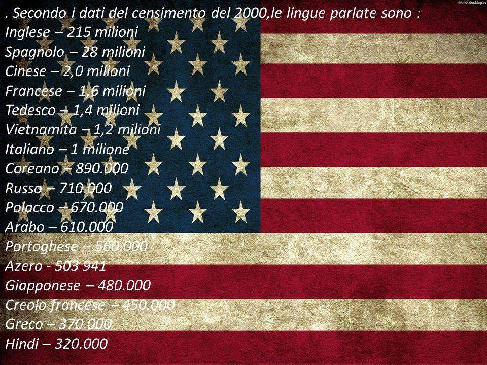 . Secondo i dati del censimento del 2000,le lingue parlate sono :