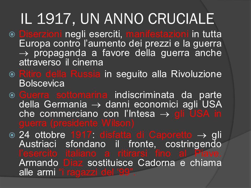 IL 1917, UN ANNO CRUCIALE