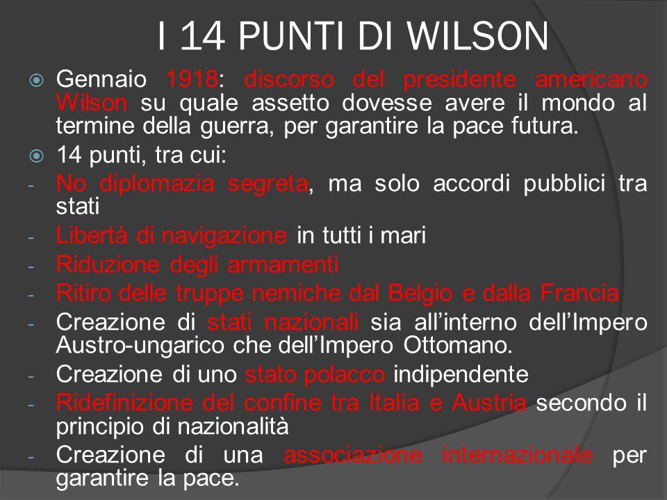 I 14 PUNTI DI WILSON