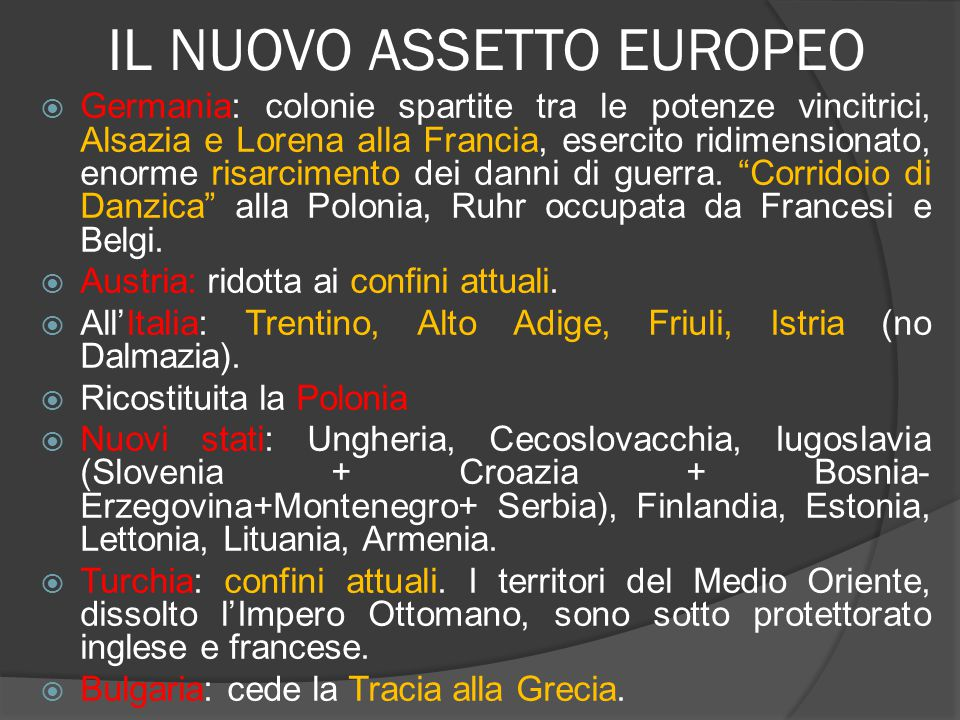 IL NUOVO ASSETTO EUROPEO