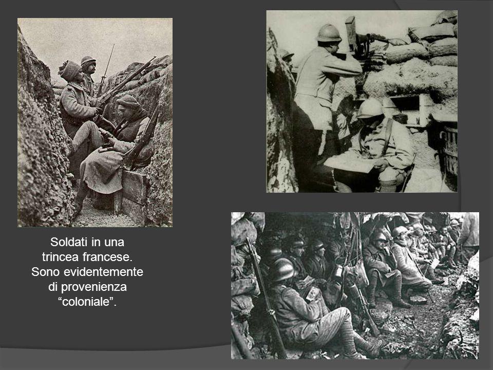 Soldati in una trincea francese