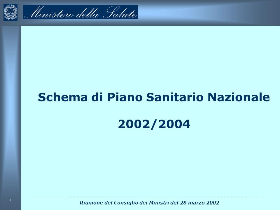 Schema di Piano Sanitario Nazionale 2002/2004