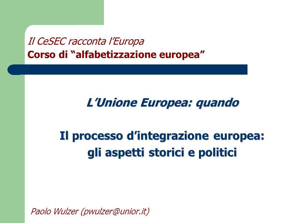 Il CeSEC racconta l'Europa Corso di alfabetizzazione europea