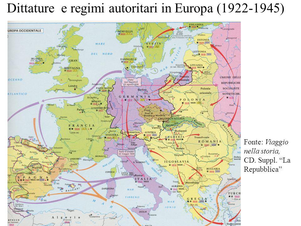 Dittature e regimi autoritari in Europa (1922-1945)
