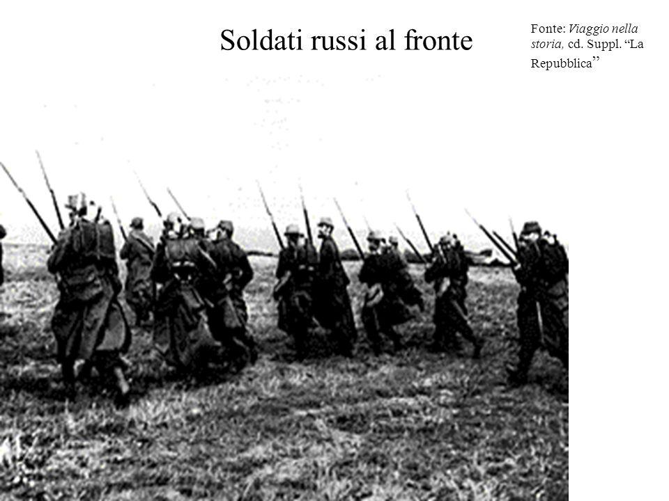 Soldati russi al fronte
