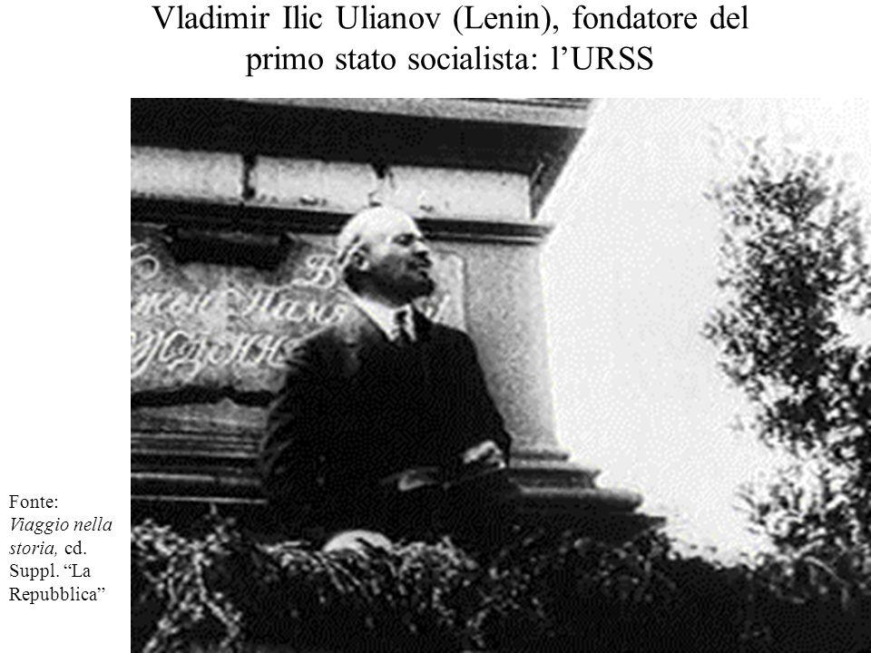 Vladimir Ilic Ulianov (Lenin), fondatore del primo stato socialista: l'URSS