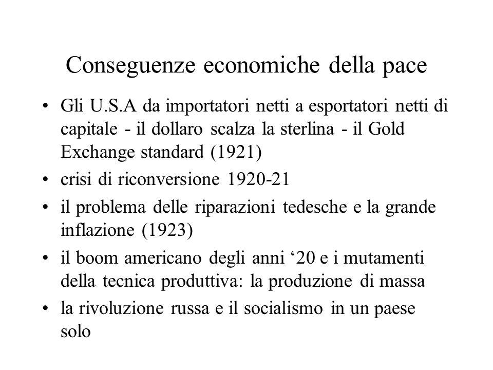 Conseguenze economiche della pace