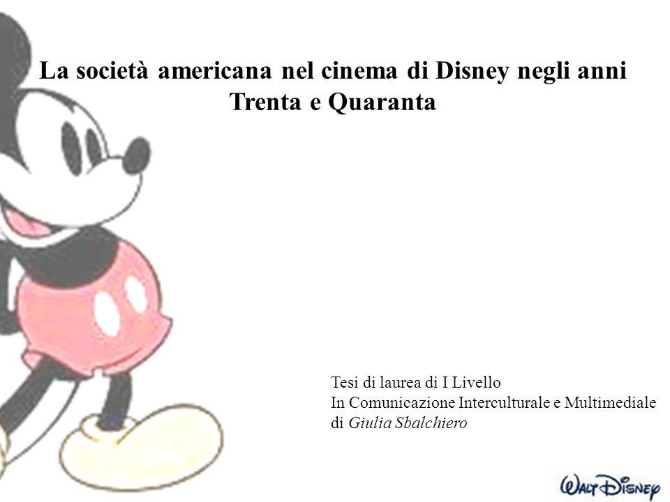 La società americana nel cinema di Disney negli anni