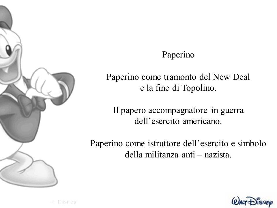 Paperino come tramonto del New Deal e la fine di Topolino.
