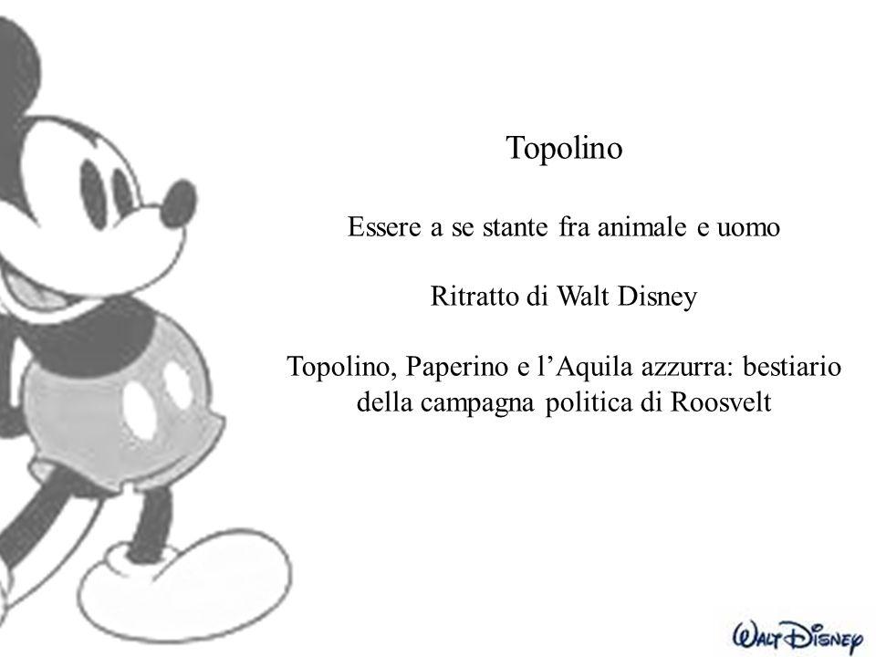 Topolino Essere a se stante fra animale e uomo Ritratto di Walt Disney