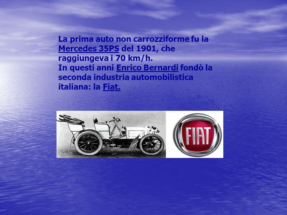 La prima auto non carrozziforme fu la Mercedes 35PS del 1901, che raggiungeva i 70 km/h.