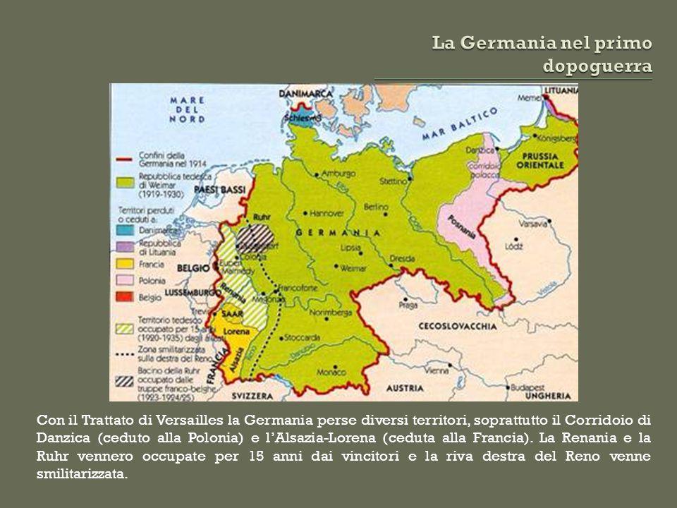 La Germania nel primo dopoguerra