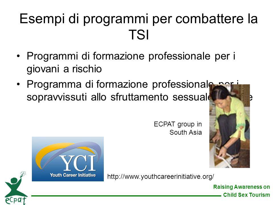 Esempi di programmi per combattere la TSI