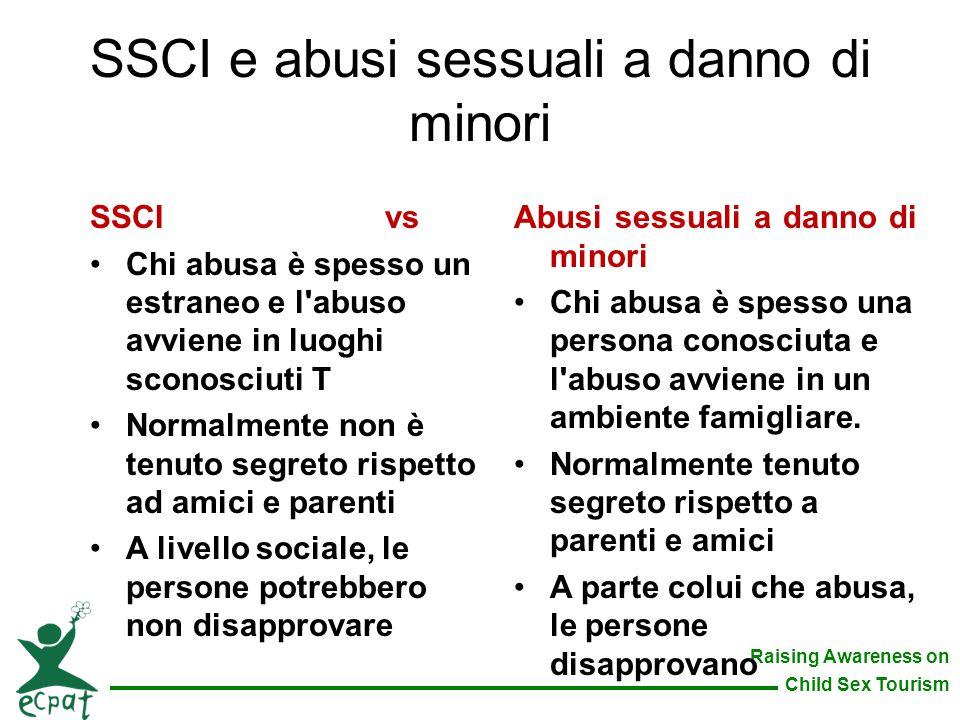 SSCI e abusi sessuali a danno di minori