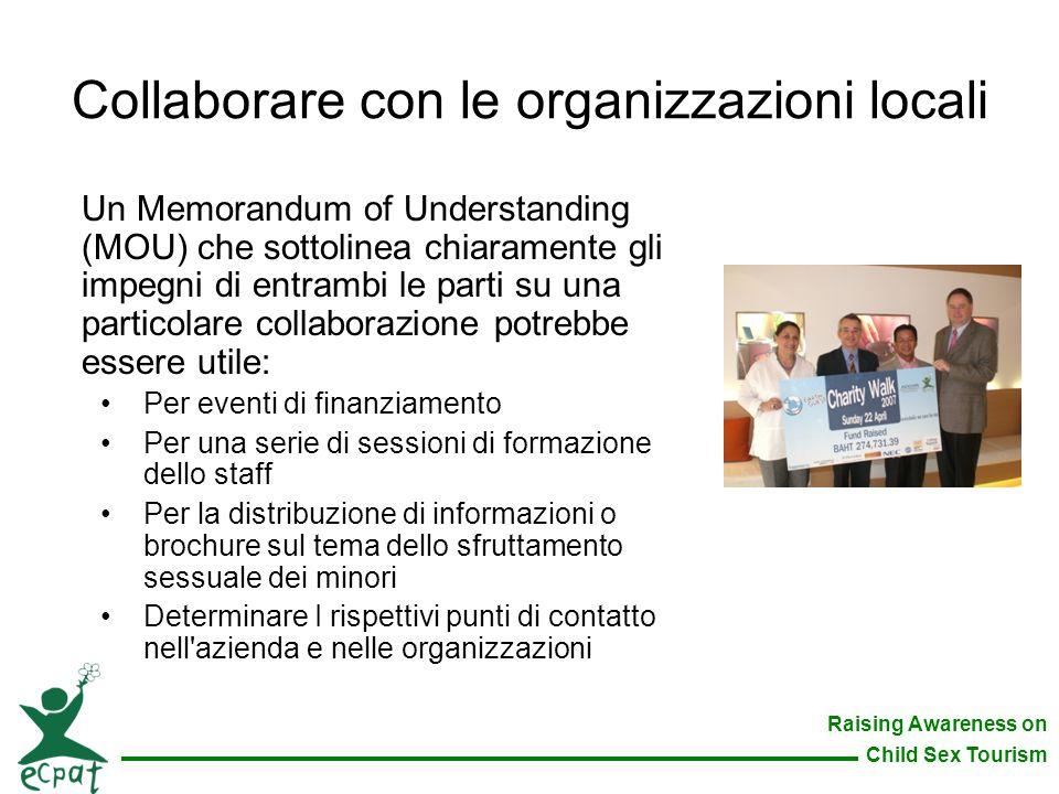 Collaborare con le organizzazioni locali