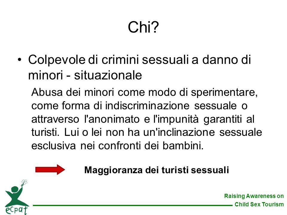 Chi Colpevole di crimini sessuali a danno di minori - situazionale