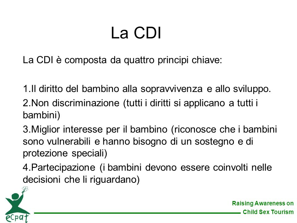 La CDI La CDI è composta da quattro principi chiave: