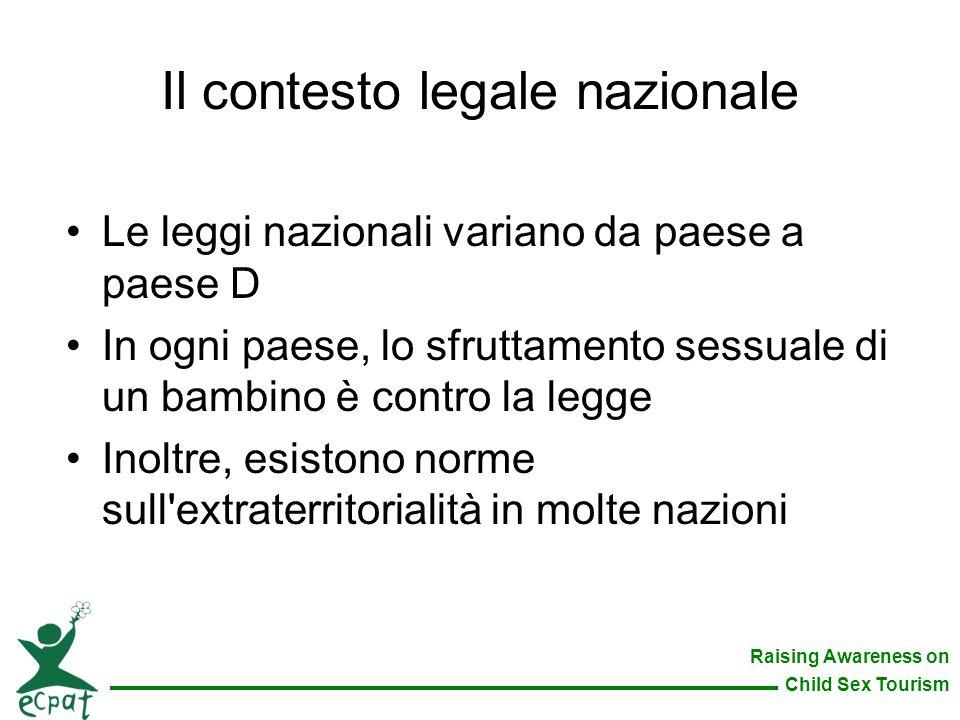 Il contesto legale nazionale