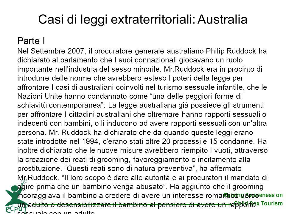 Casi di leggi extraterritoriali: Australia