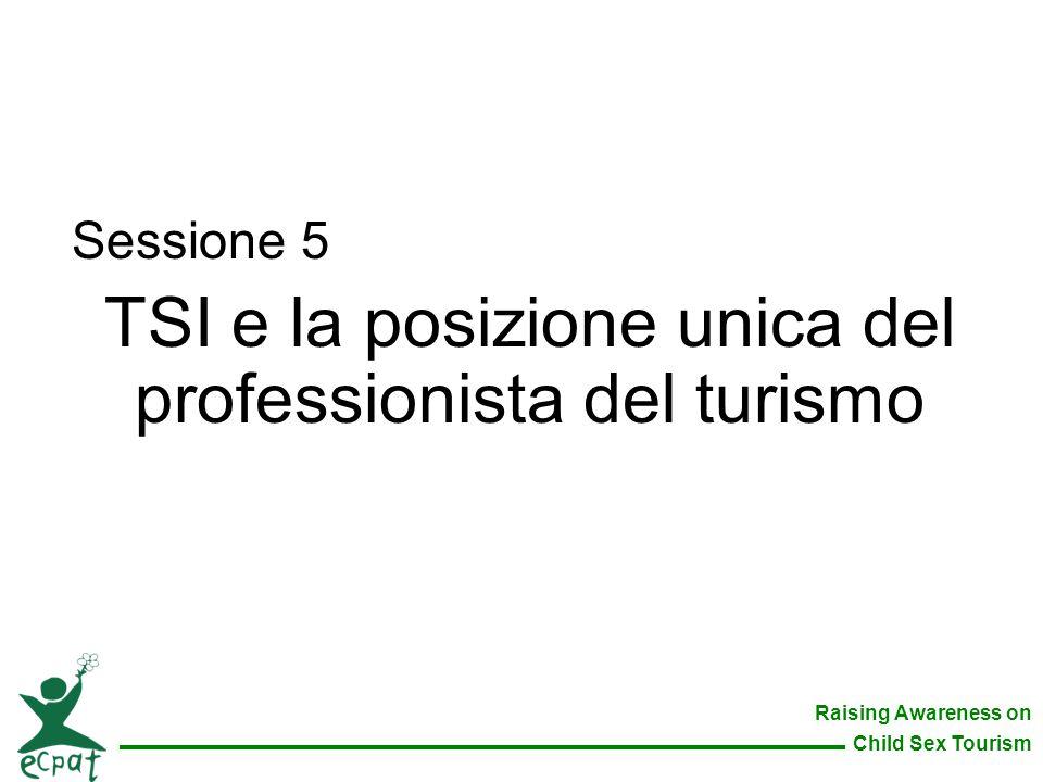 TSI e la posizione unica del professionista del turismo