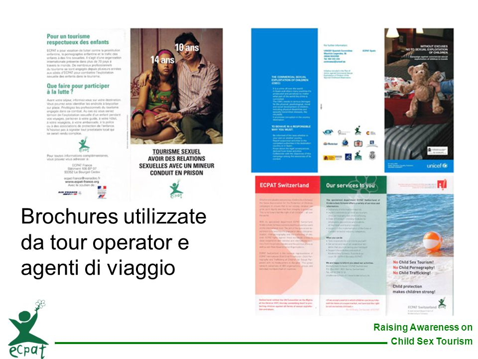 Brochures utilizzate da tour operator e agenti di viaggio