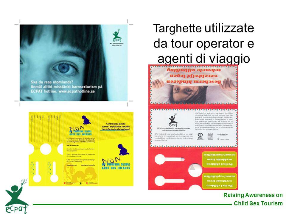 Targhette utilizzate da tour operator e agenti di viaggio