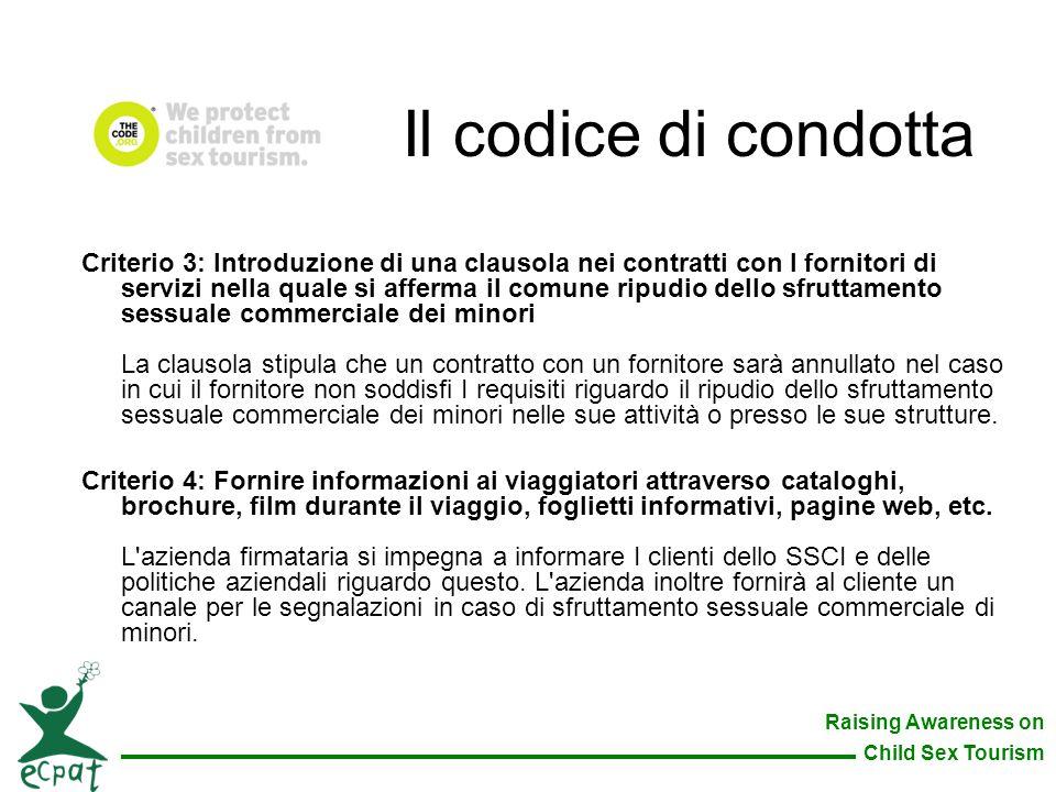 Il codice di condotta