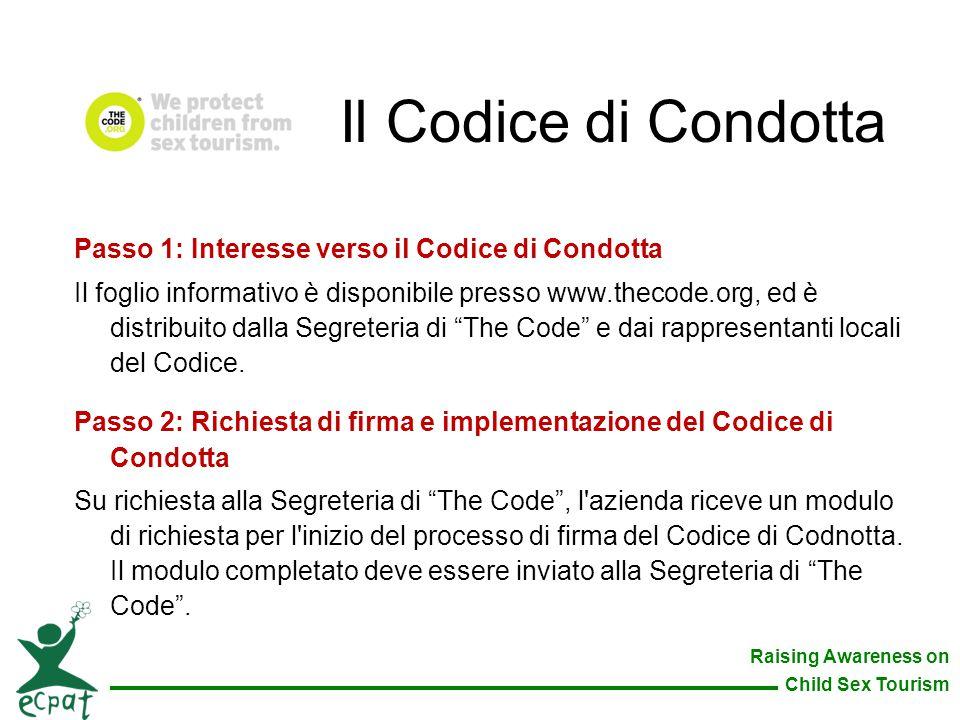 Il Codice di Condotta Passo 1: Interesse verso il Codice di Condotta