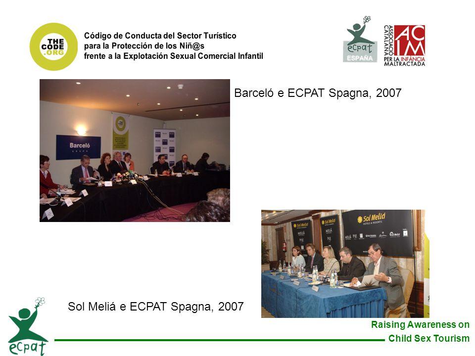 Sol Meliá e ECPAT Spagna, 2007